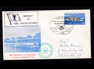 """Sonderumschlag MS """"Havelstern"""" auf Sonderfahrt anläßlich der BEPHILA '75"""