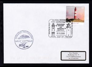 Sonderstempel Lindau 20.10.2008 + Cachet MS Graf Zeppelin auf Brief