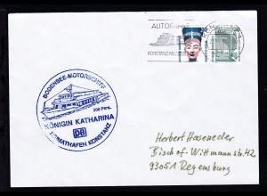 OSt. Konstanz 21.6.97 + Cachet MS Königin Katharina auf Brief