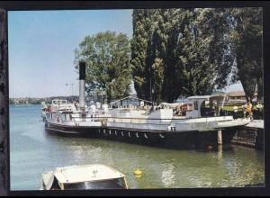 """Dampfer """"Schaffhausen"""" im Kreuzlinger Hafen"""