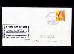 OSt. Schaffhausen 20.11.98 + Cachet MS Stein am Rhein auf Brief