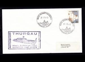 OSt. Schaffhausen 29.1.74 + Cachet MS Thurgau auf Brief