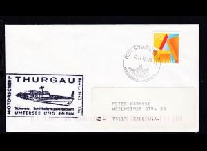 OSt. Schaffhausen 20.11.98 + Cachet MS Thurgau auf Brief