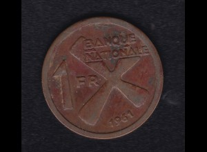 Katanga 1 Franc 1961, SS
