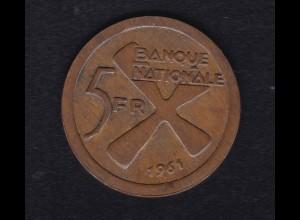 Katanga 5 Franc 1961, SS