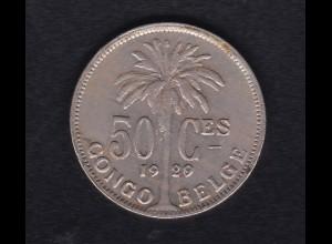 Belgisch-Kongo 50 Centimes 1929, SS
