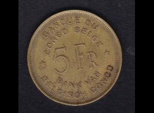 Belgisch-Kongo 5 Franc Elefant 1947, SS