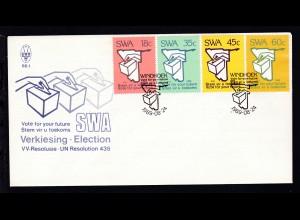 Wahlen vom 1. November auf FDC ohne Anschrift