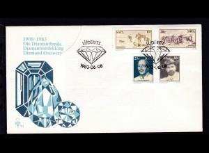 Diamantenfunde bei Lüderitz auf FDC ohne Anschrift