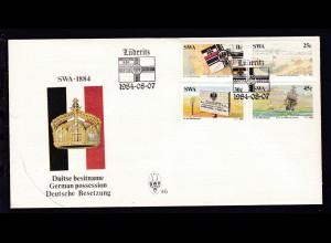 100. Jahrestag der Inbesitznahme Südwestafrikas durch Deutschland auf FDC