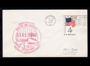 USA Maschinenstempel Norfolk SEP 8 1960 + Cachet USNS Potomac Arctic Operations