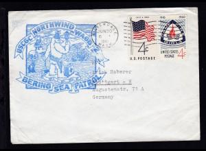 USA Maschinenstempel Silverdale JUN 30 1961 + Cachet USCGC Northwind