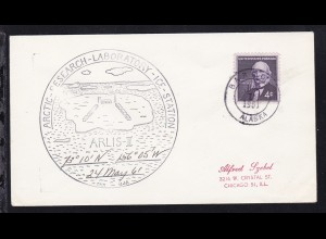 USA K2 Barrow Alaska JUN 19 1961 + Cachet ARLIS-II auf Brief