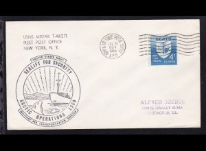 USA Maschinenstempel ARMY & AIR FORCE POSTAL SERVICE APO 864 JUL 11 1960 +