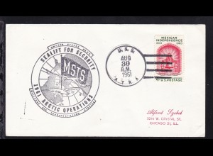 USA Maschinenstempel U.S.S. ATKA AUG 30 1961 + Cachet 1961 Artic Operations