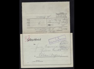 FELD-POSTEXPED. 8. BAYER. RES. DIV. 19.6.15 + R2 S.B. K. Bay. Res. Inf. Rgt.