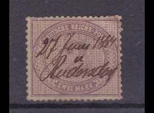 Innendienst 2 Mark mit hs Entwertung 27 Juni 1884 Rüdersdorf