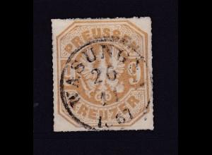 Adler 9 Kr. mit K1 WASUNGEN 26.11.1867
