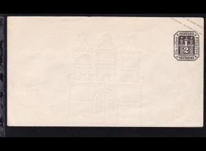 Wappen ½ Sch.,Brief zugeklebt