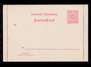 Kartenbrief Ziffer 10 Pfg.