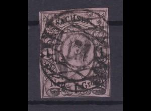 König Johann I 1 Ngr. mit Nummernstempel 177 (= Zwönitz)