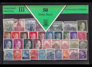 50 Marken Drittes Reich und Gebiete, gemischt