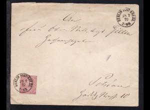 Ziffer 1 Gr. auf Brief mit K1 BERLIN POST-EXP. 23 28.7.70 nach Potsdam