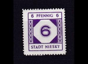 Niesky Freimarke 6 Pfg., **