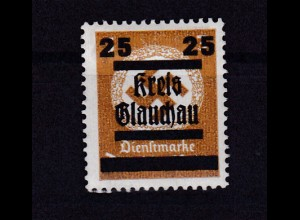 Glauchau Behördendienstmarke mit Aufdruck 25 auf 3 Pfg., *