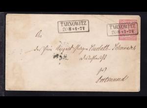 Ziffer 1 Gr. mit R2 TARNOWITZ 20.8. nach Dortmund