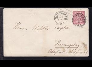 Ziffer 1 Gr. mit K2 GÖTTINGEN 23.5. nach Königsberg