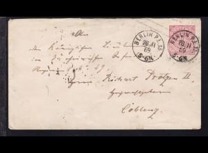 Ziffer 1 Gr. mit K1 BERLIN P.E.15 28.11.69 nach Coblenz