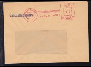 AFS BREBACH (SAAR) 19.?.52 FR. Brandenburger KG LANDMASCHINEN POST-SAAR 012 F