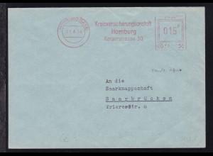 AFS HOMBURG (SAAR) 03.4.54 Kreisversicherungsanstalt Homburg Kaiserstrasse 30