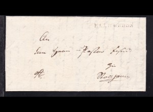 Ellwürden 1820 L1 ELLWÜRDEN auf Brief nach Stollhamm