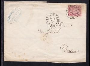 Ziffer 1 Gr. auf Firmenbrief 8J.J. Luhme & Co., Berlin) mit K1 BERLIN P.E. 38