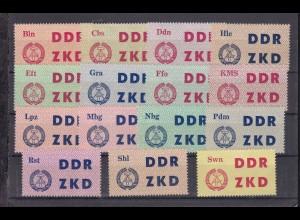 Laufkontrollzettel für Dienststellen der Deutschen Volkspolizei, **