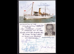 """1996 Gedenkblatt DS """"Schaarhörn"""" zur Eröffnung des Internationalen"""