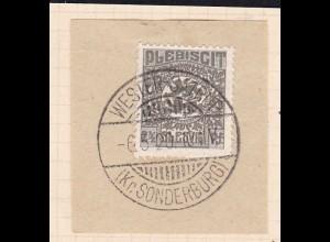 Wappen 2½ Pfg. auf Briefstück mit Stempel WESTER-SATRUP (Kr. SONDERBURG) 6.5.20