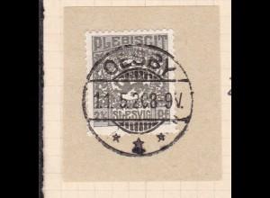 Wappen 2½ Pfg. auf Briefstück mit Stempel OESBY *** 11.5.20