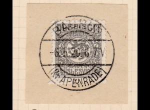 Wappen 2½ Pfg. auf Briefstück mit Stempel BAURUP (Kr. APENRADE) 6.5.20