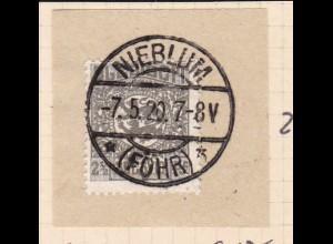Wappen 2½ Pfg. auf Briefstück mit Stempel NIEBLUM (FÖHR) ** 7.5.20