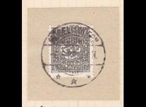 Wappen 2½ Pfg. auf Briefstück mit Stempel MÖGELTONDERN *** 6.5.20