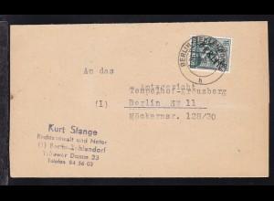Schwarzaufdruck 16 Pfg. auf Brief des Rechtsanwalt und Notar Kurt Stange