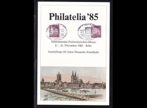 """Sonderblatt Ausstellung """"150 Jahre Deutsche Eisenbahnen"""" Köln 1985"""