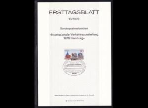 Ertstagsblatt Internationale Verkehrsausstellung hamburg 1979