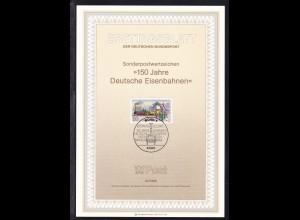 Ertstagsblatt 150 Jahre Deutsche Eisenbahnen