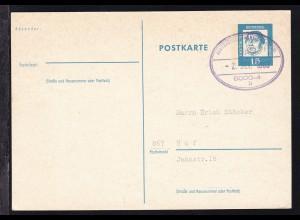 SAARBRÜCKEN-FRANKFURT (MAIN) ÜpB 8000-4 b 2. SEP. 1963 auf Ganzsache