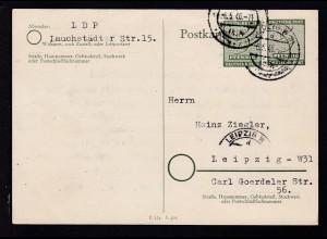 Ziffer 5 Pfg. mit Zusatzfrankatur ab Leipzig 6.5.46 nach Leipzig,