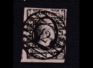 König Friedrich August II 1 Ngr. mit Nummernstempel 12 (= Freiberg)